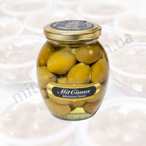Оливки зелені з кісточкою в розсолі 360 г
